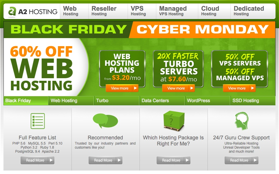 A2 Hosting Black Friday Cyber Monday