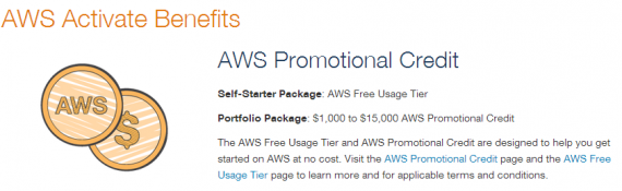 AWS Activate Benefits