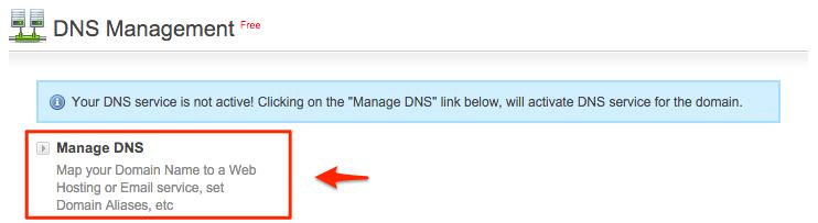 BigRock Manage DNS