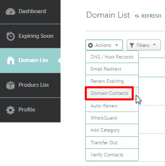 domain contacts