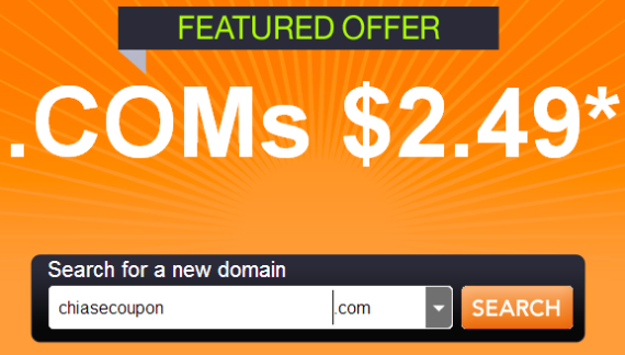 godaddy coupon 2.49