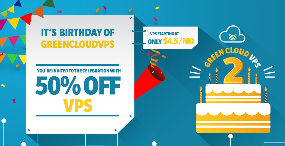 GreenCloudVPS Birthday
