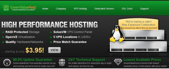greenvaluehost may sale