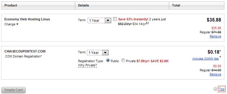 Khuyến mại GoDaddy Hosting miễn phí domain