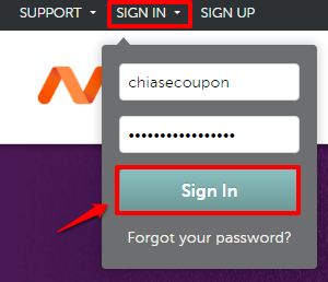 Sign in Namecheap