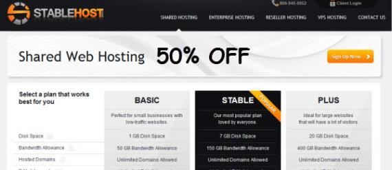 StableHost giảm giá 50%