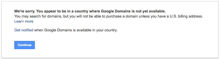 Thong bao loi Google Domains