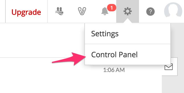 Truy cap Control Panel