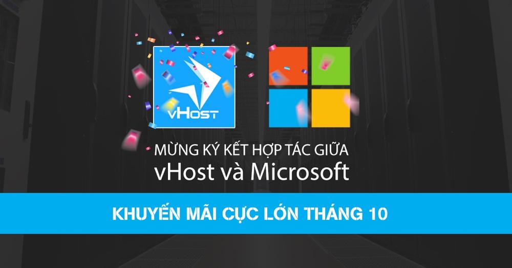 vHost hop tac cung Microsoft