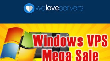WeLoveServers Windows VPS Sale